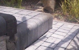 GRAVITY: There's no secret to what holds driveway pavers in place.